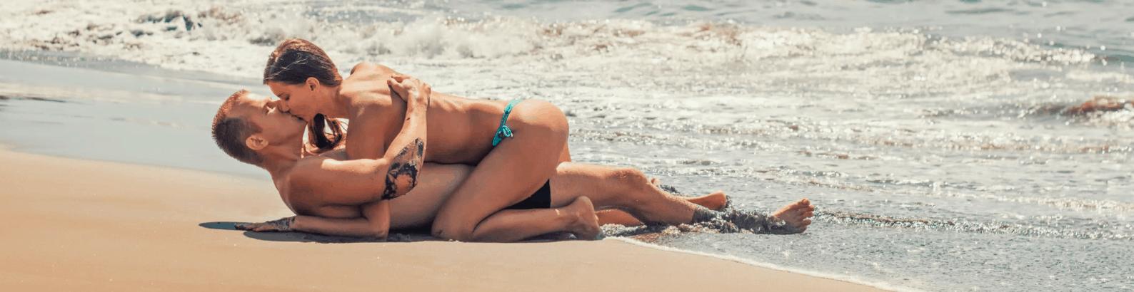 Man Women Beach